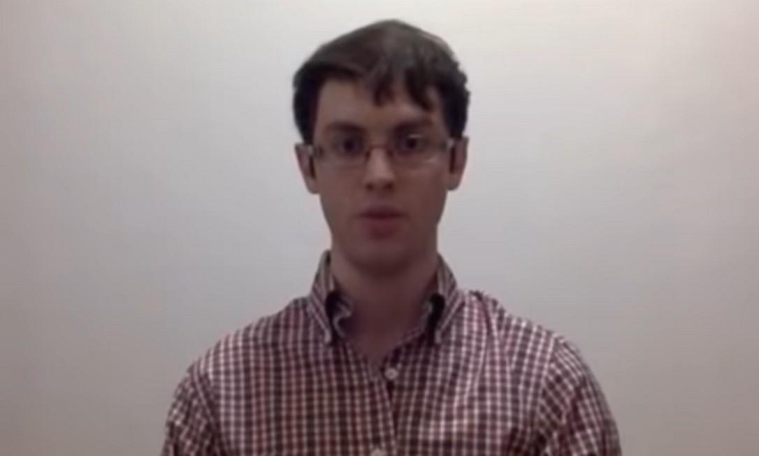 Tomás Marchesini, professor da Universidade de Hubei, foi um dos brasileiros que participou do vídeo Foto: Reprodução