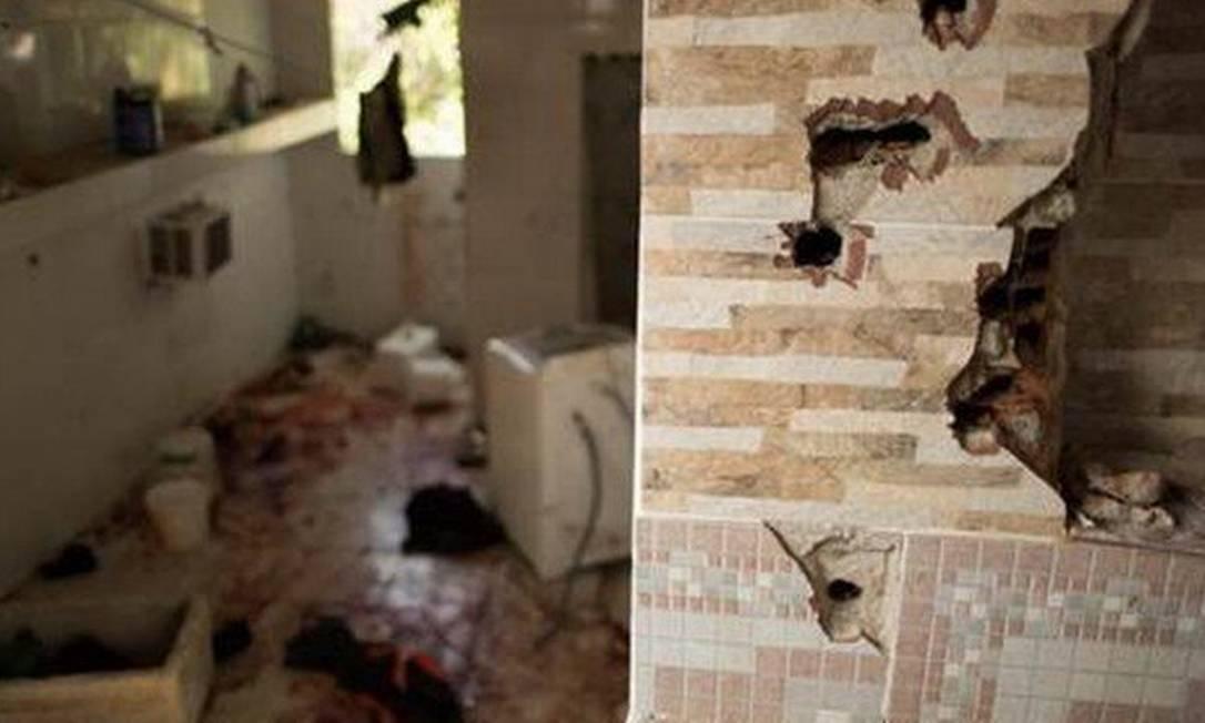 Casa na comunidade do Fallet, onde a polícia matou nove homens em 8 de fevereiro de 2019 Foto: Thatiana Gurgel, Defensoria Pública do estado do Rio de Janeiro