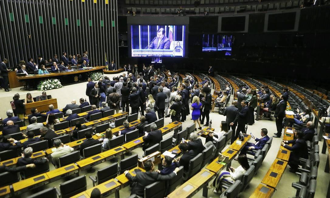 Cerimônia de abertura do Ano Legislativo 2020, no Congresso Nacional Foto: Jorge William / Agência O Globo