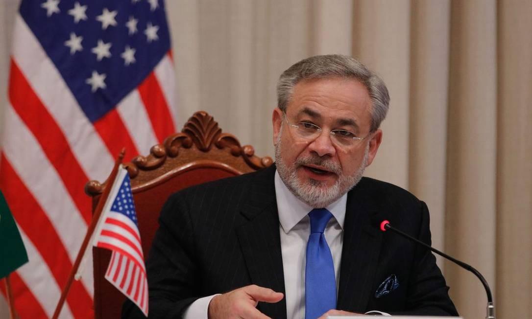 Secretário de Energia dos EUA, Dan Brouillette, no Fórum de Energia Brasil-Estados Unidos, no Rio Foto: Agência Brasil