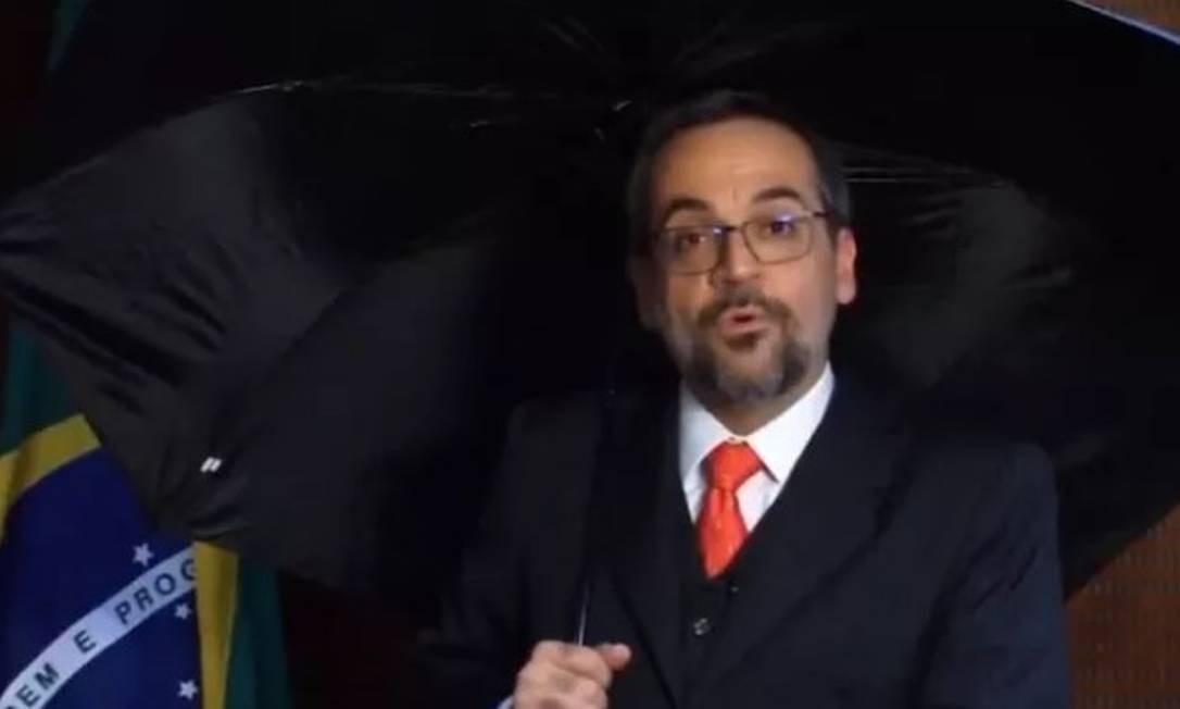 O ministro Abraham Weintraub: na mira do centrão na Câmara dos Deputados Foto: Reprodução