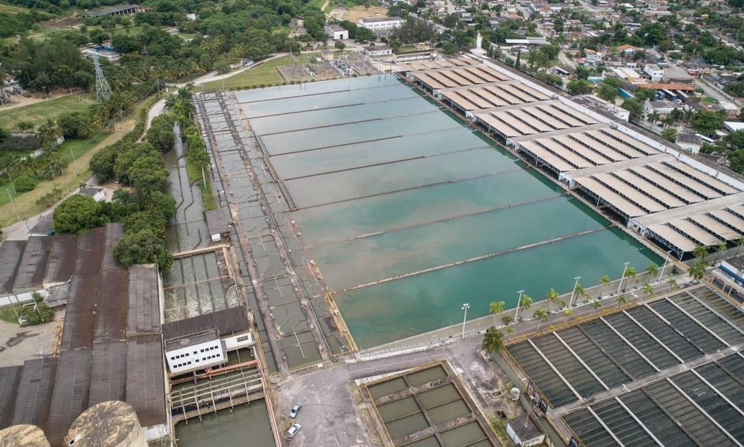 Estação de Tratamento de Água do Guandu Foto: Brenno Carvalho / Agência O Globo