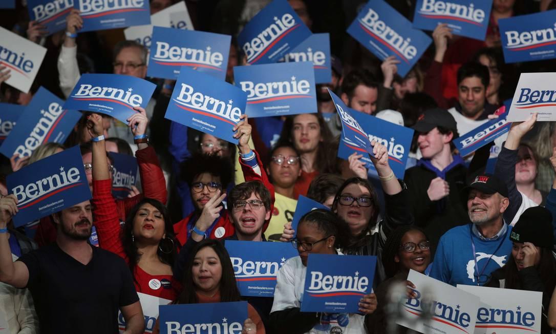 Os apoiadores do candidato presidencial democrata Sen. Bernie Sanders Foto: ALEX WONG / AFP