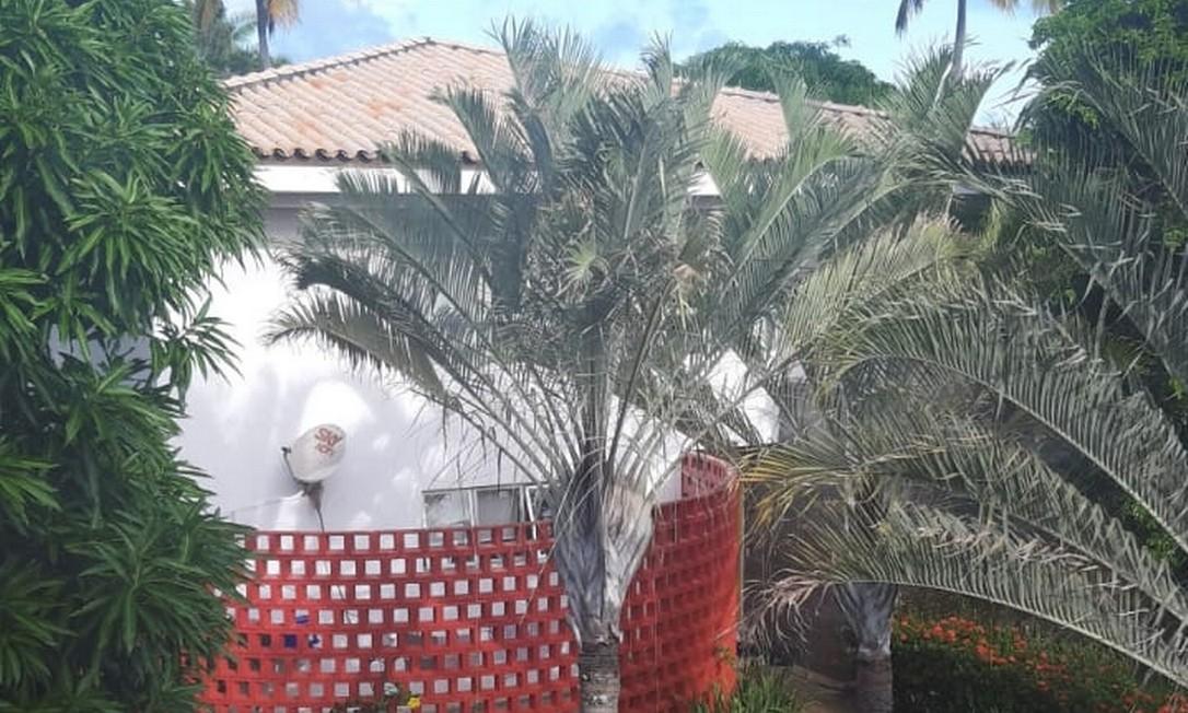 Resort de luxo onde Adriano Magalhães de Nóbrega teria ficado com a mulher e as duas filhas: local foi alvo de operação da Polícia Civil, mas miliciano não foi encontrado Foto: Reprodução