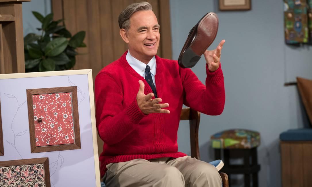 """Tom Hanks em cena do filme """"Um lindo dia na vizinhança"""" Foto: Lacey Terrell / Divulgação"""