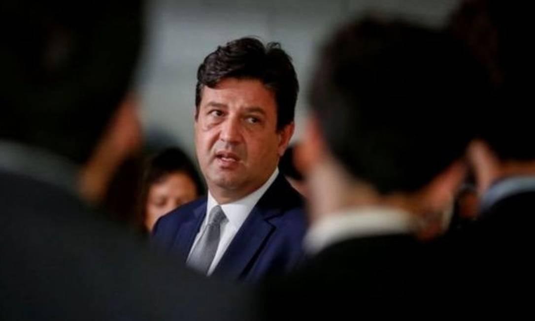 Ministro da Saúde Luiz Henrique Mandetta Foto: AFP