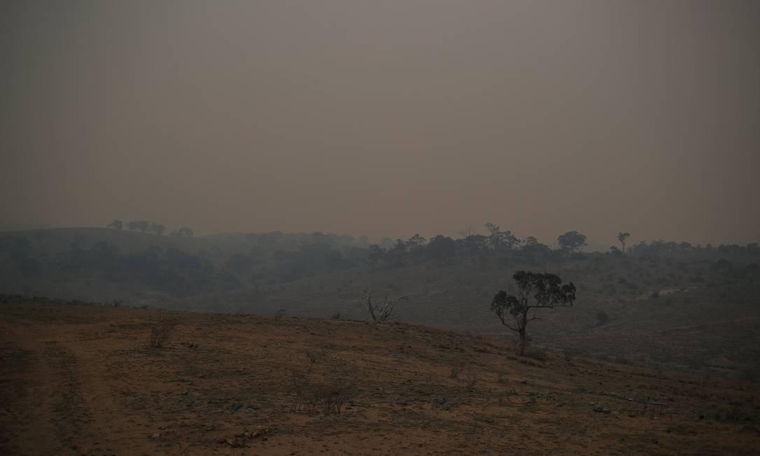 Paisagem envolta em fumaça em Nova Gales do Sul, Austrália. Foto: LOREN ELLIOTT / REUTERS