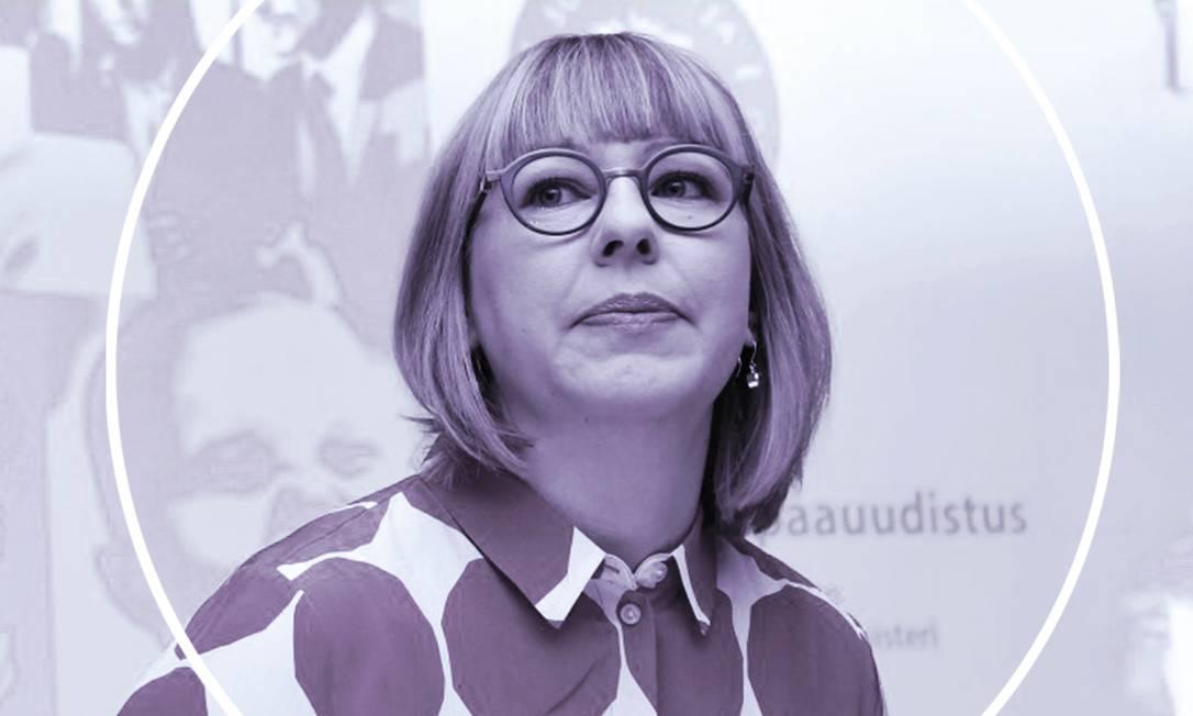 A ministra finlandesa da Saúde e Questões Sociais, Aino-Kaisa Pekonen, apresentou os planos para a reforma na questão da licença paternidade Foto: Reuters/Arte Ana Luiza de Oliveira Costa