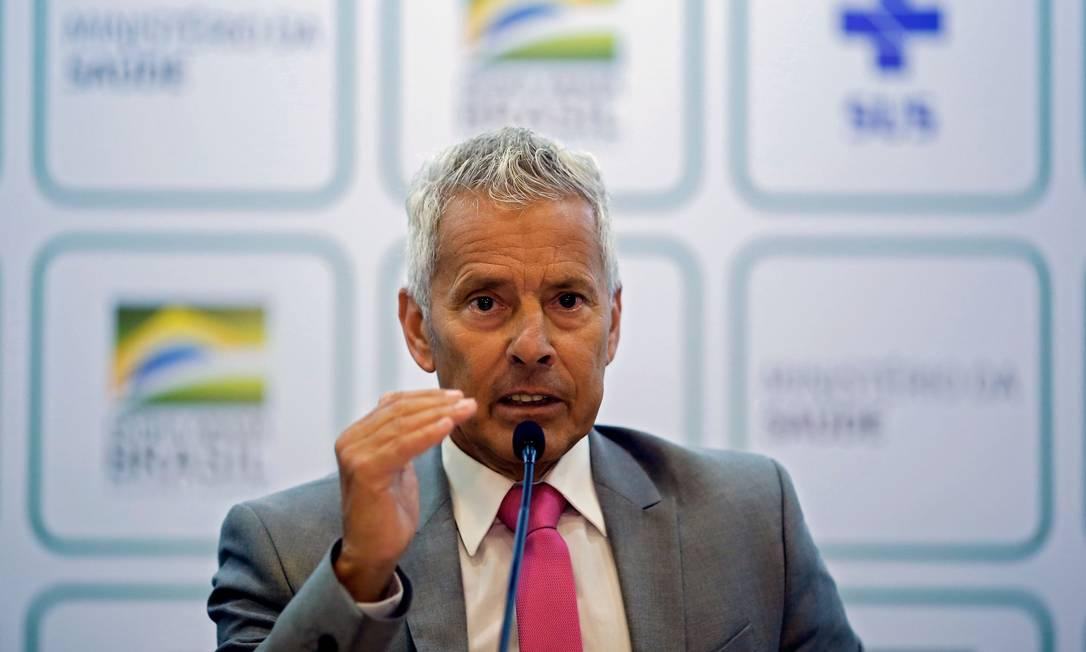 Secretário-executivo do Ministério da Saúde João Gabbardo dos Reis Foto: SERGIO LIMA / AFP