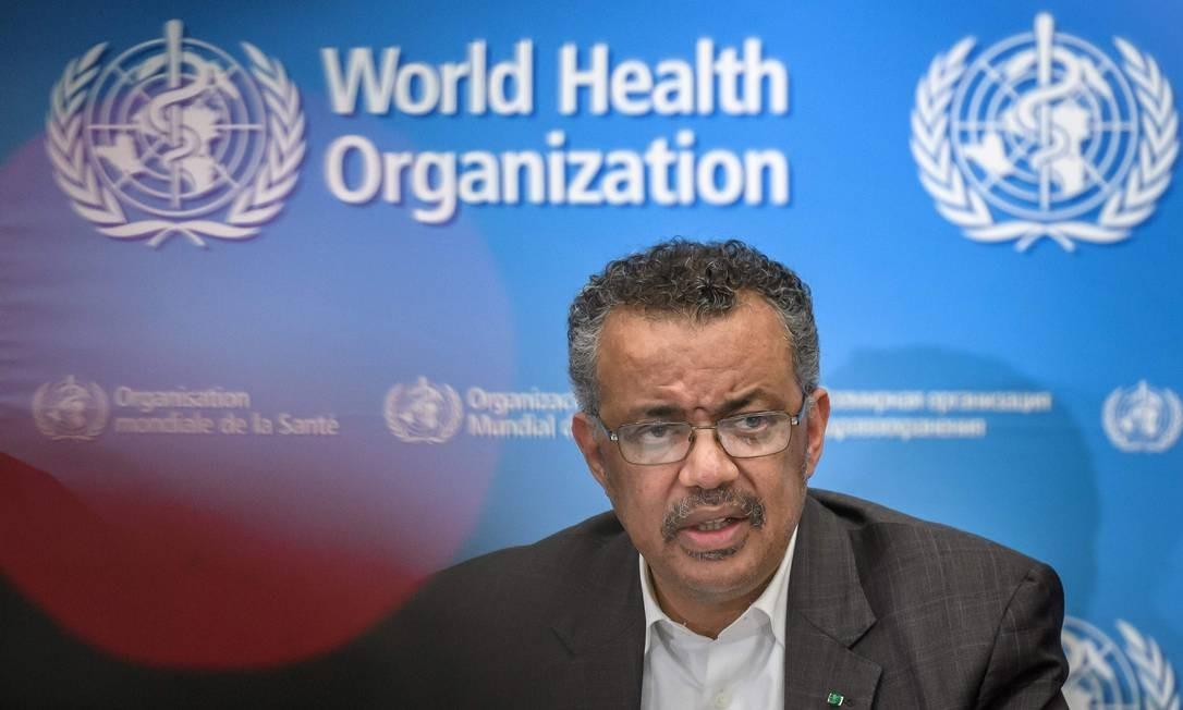 Diretor-geral da OMS, Tedros Adhanom Ghebreyesus Foto: FABRICE COFFRINI / AFP