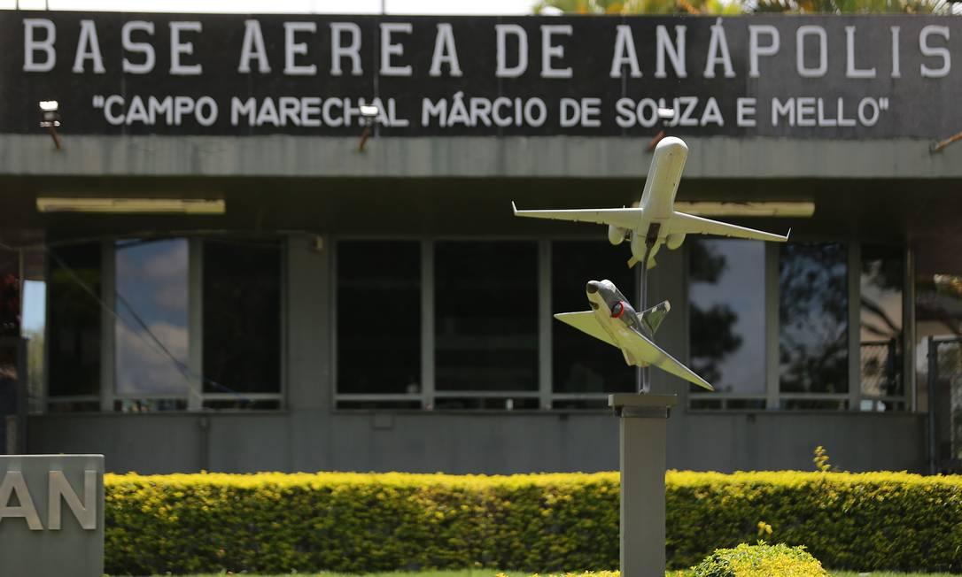 Base aérea de Anápolis (GO), que vai receber os brasileiros para a quarentena de prevenção ao coronavírus Foto: Jorge William / Agência O Globo
