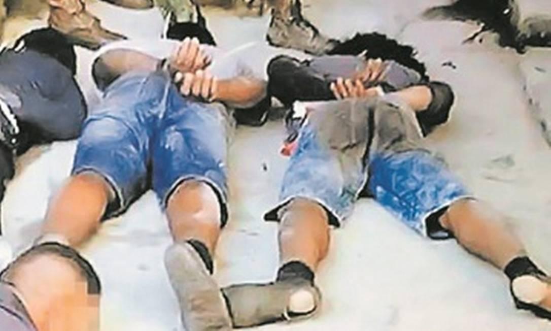 Grupo foi capturado durante a intervenção federal no Rio Foto: Reprodução