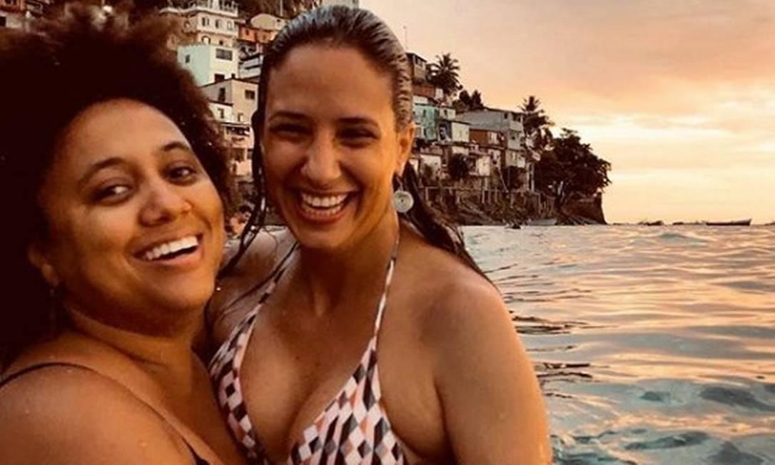 Mônica Benício, viúva de Marielle Franco, e Marina Iris, em Salvador Foto: Reprodução Instagram
