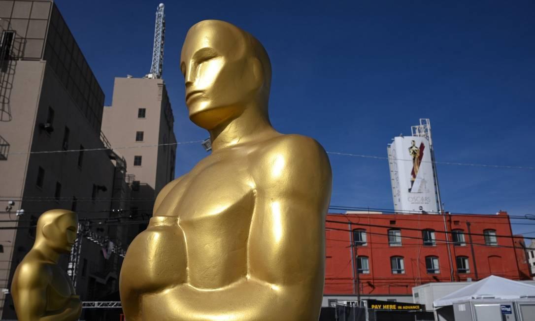 Os preparativos para a cerimônia de entrega do Oscar 2020 Foto: ROBYN BECK / AFP