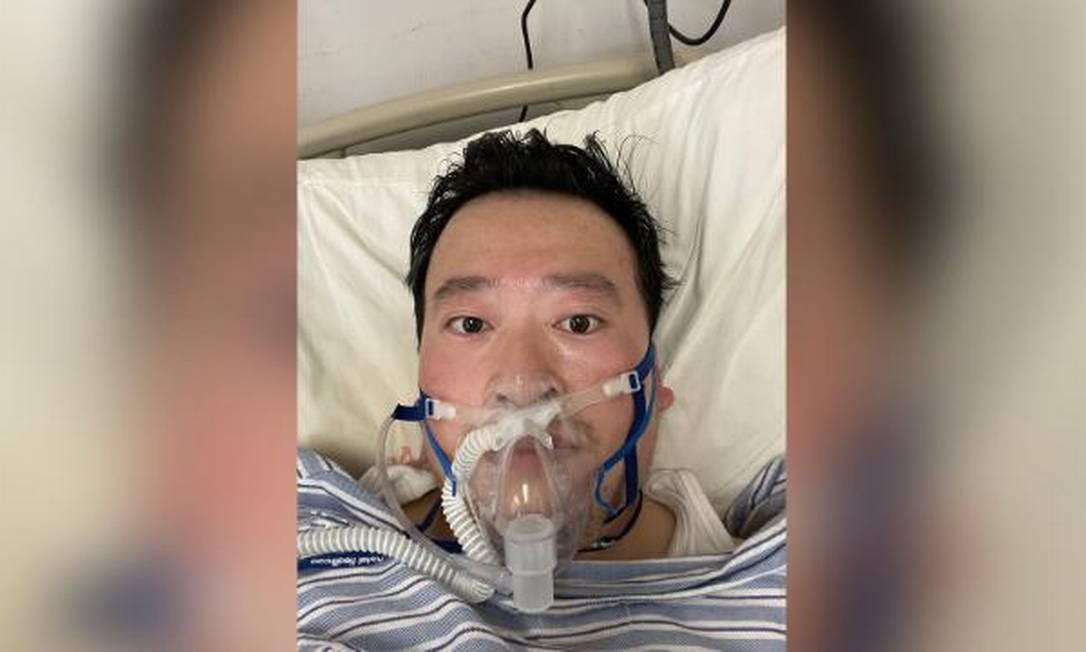 O médico Li Wenliang, que alertou o mundo sobre existência do novo coronavírus Foto: Reprodução