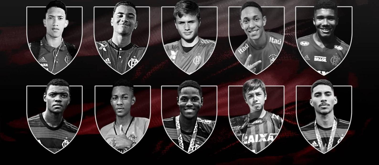 Os dez jogadores mortos no incêndio do Ninho do Urubu Foto: Arte
