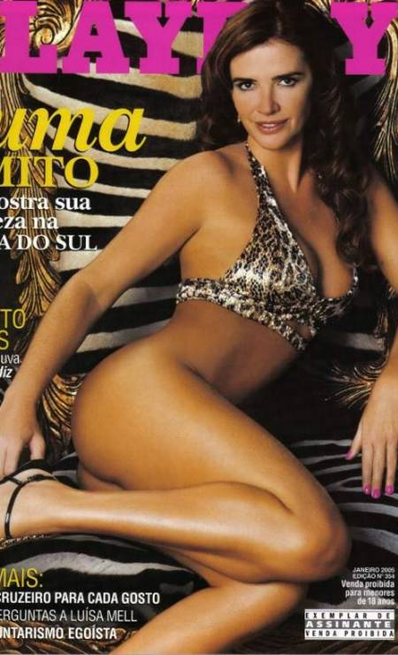 """Luma na capa da """"Playboy"""" de janeiro de 2005: ensaio na África do Sul Foto: Reprodução"""
