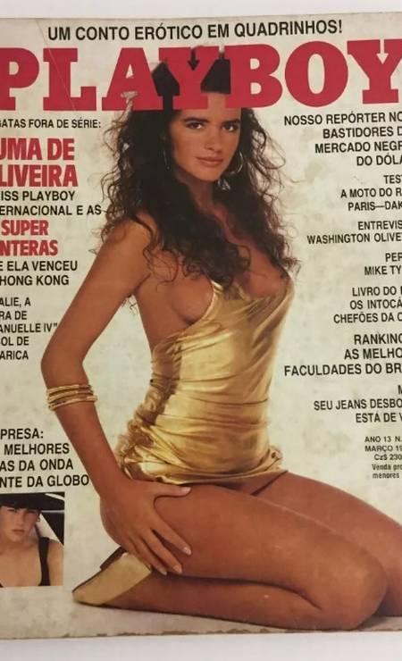 """Luma é capa da """"Playboy"""" em março de 1988 Foto: Reprodução"""