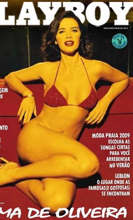 """Luma é capa de edição especial da """"Playboy', para colecionadores, em 2008 Foto: Reprodução"""