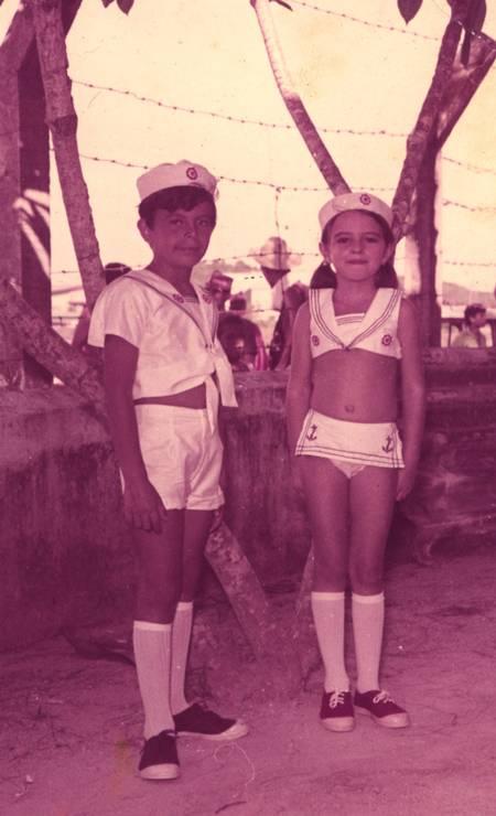 Aos 6 anos, Luma se veste de marinheira no carnaval Foto: Reprodução
