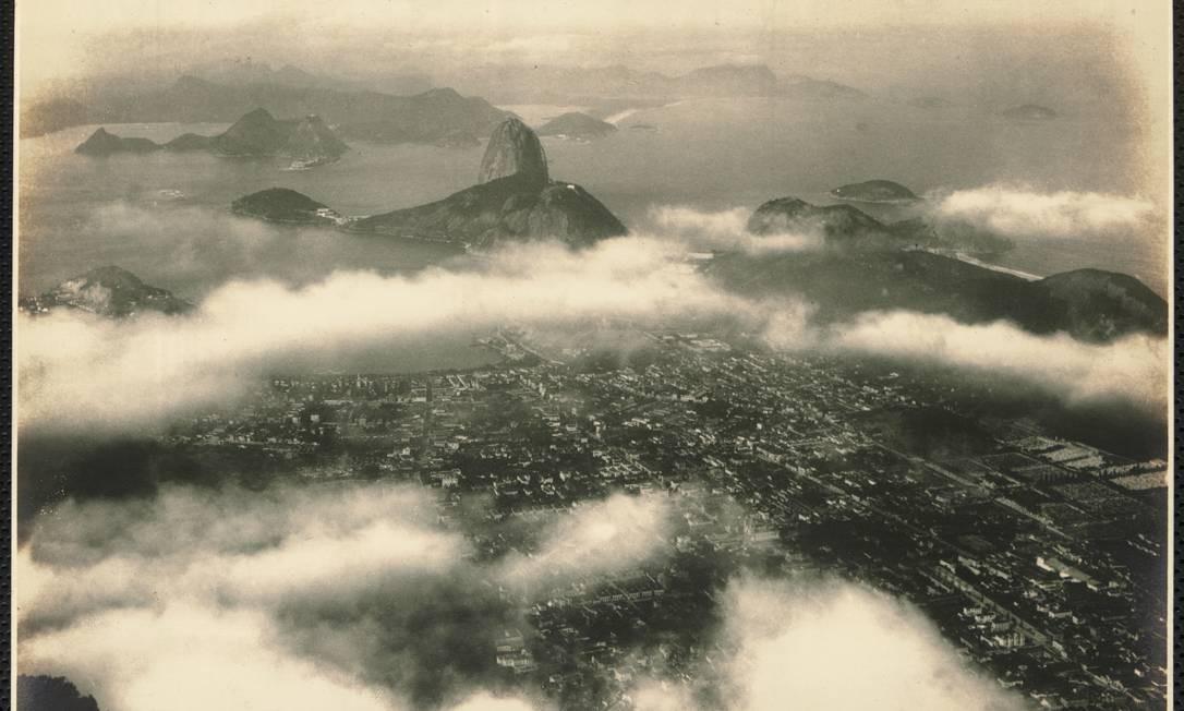 Foto do Rio antigo visto do Alto do Corcovado Foto: Arquivo Nacional