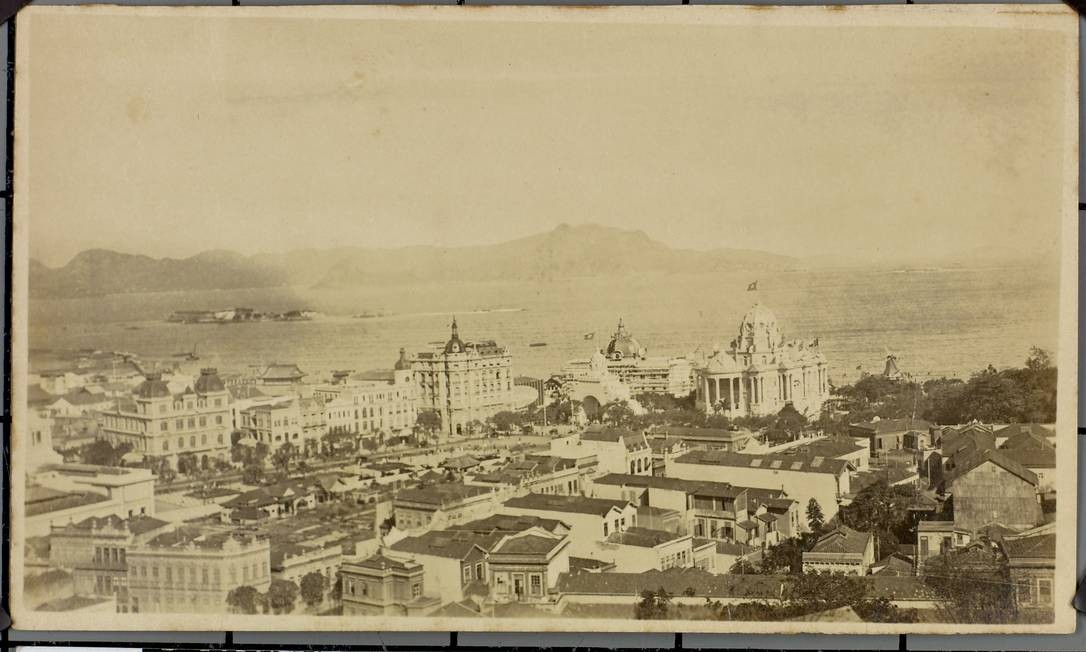 Imagem rara do Rio antigo, parte do acervo do Arquivo Nacional Foto: Arquivo Nacional