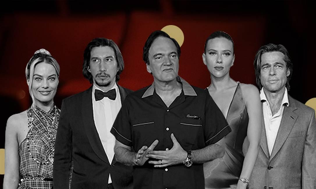 No Twitter, os indicados ao Oscar 'Coringa' e 'Parasita' dominaram o debate Foto: Arte O Globo