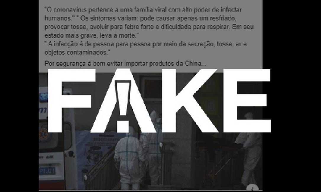 É #FAKE que produtos importados da China contêm coronavírus Foto: G1