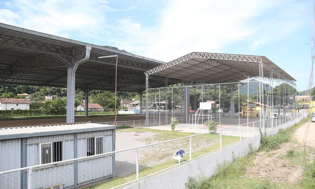 O parque terá quadra esportiva e área para feira gastronômica. Foto: Pedro Teixeira / Agência O Globo