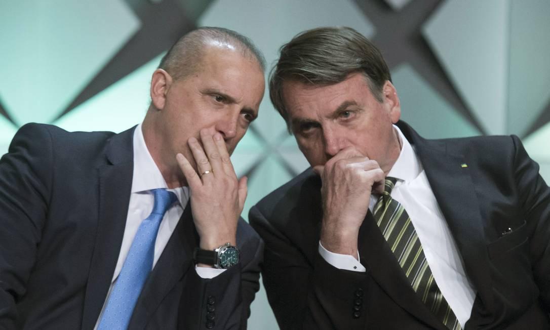 O presidente Jair Bolsonaro e o ministro Onyx Lorenzoni 10/10/2019 Foto: Edilson Dantas / Agência O Globo
