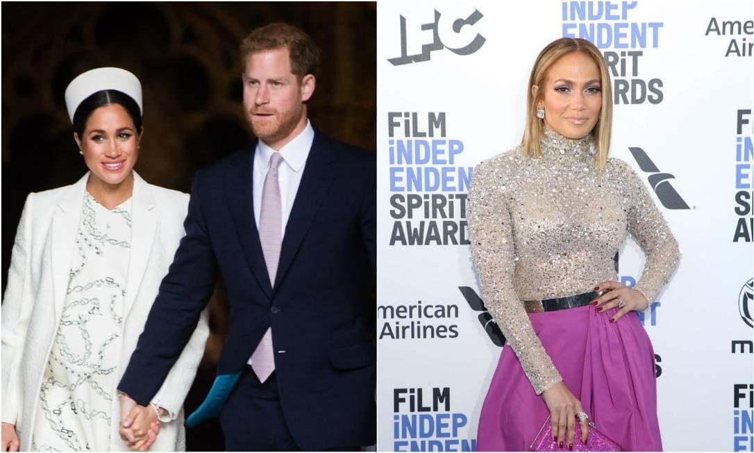 Meghan, Harry e J.Lo Foto: Gettyb e AFP