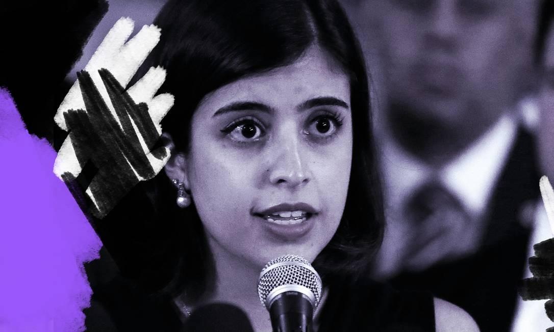 A deputada Tabata Amaral (PDT-SP) Foto: Arte sobre foto de Jorge William/ Agência O Globo