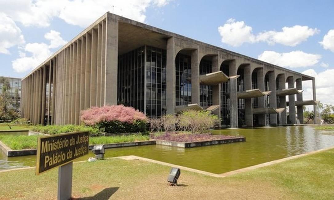 Fachada do Ministério da Justiça e da Segurança Pública, em Brasília Foto: Divulgação