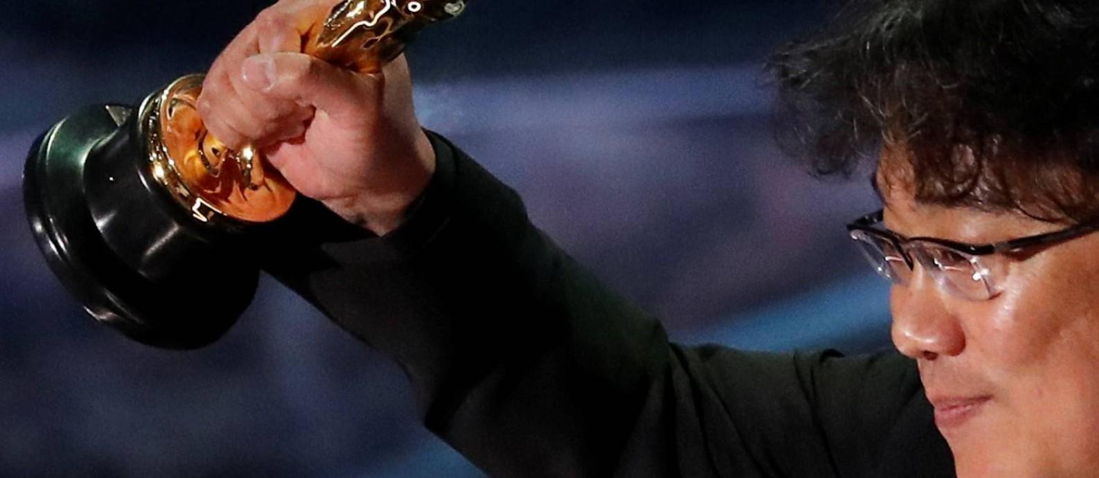 Oscar 2020: 'Parasita', de Bong Joon-ho, fez história e levou o prêmio de melhor filme Foto: MARIO ANZUONI / REUTERS