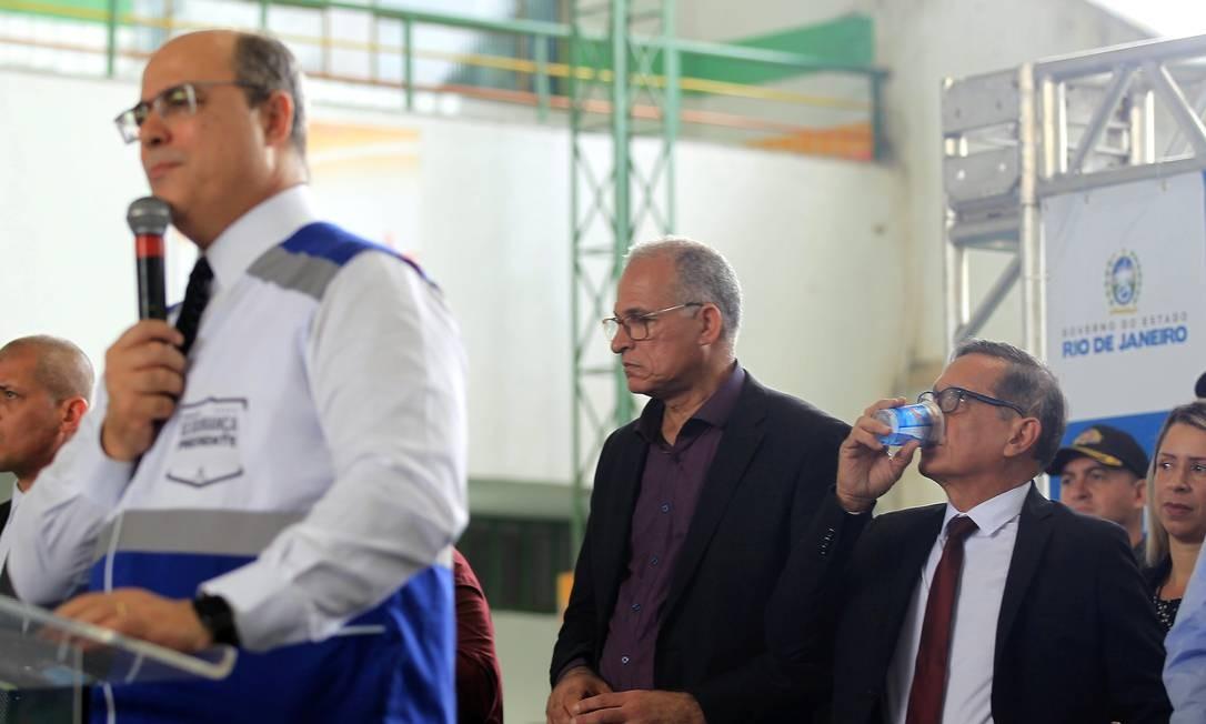 O governador Wilson Witzel inaugurou novas bases em Queimados e Belford Roxo nesta segunda-feira Foto: Gabriel de Paiva / Agência O Globo