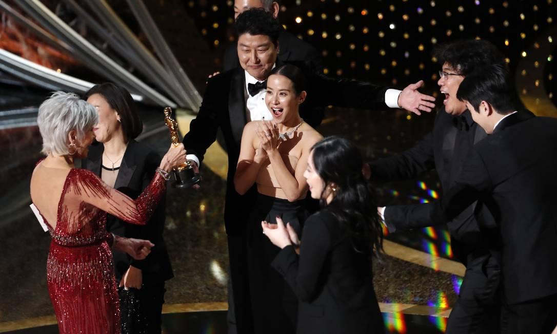 """""""Parasita"""" foi o maior vencedor do Oscar 2020, com quatro premiações Foto: Mario Anzuoni / Reuters"""