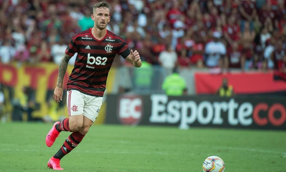 Léo Pereira pelo Flamengo Foto: Foto: Alexandre Vidal / Flamengo