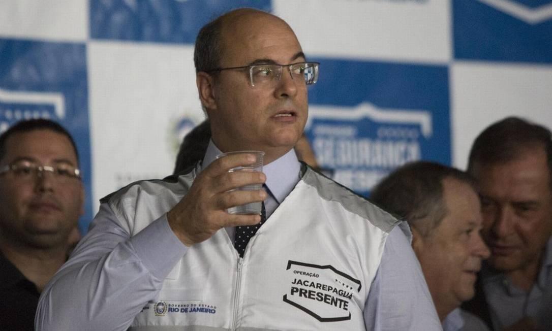 Governador Wilson Witzel sumbeterá nome ao Conselho de Administração da Cedae Foto: Guito Moreto / O Globo