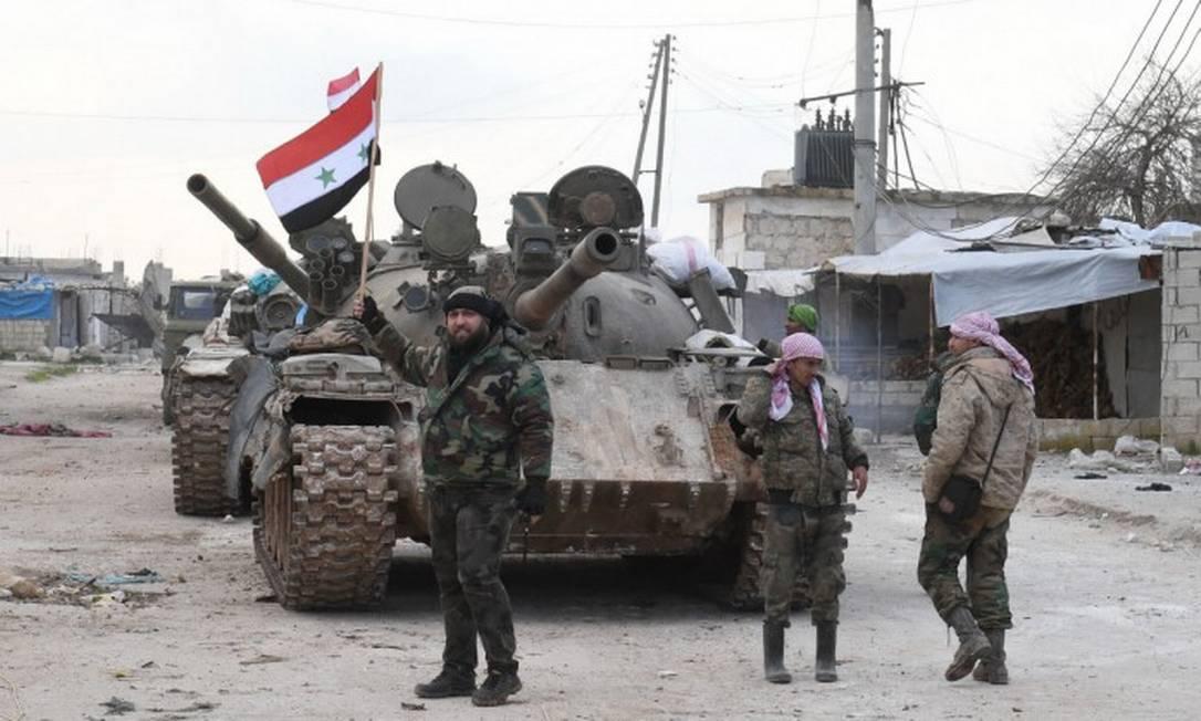 Forças do governo sírio ocupam rodovia que liga Alepo a Damasco Foto: AFP / 10-02-2020