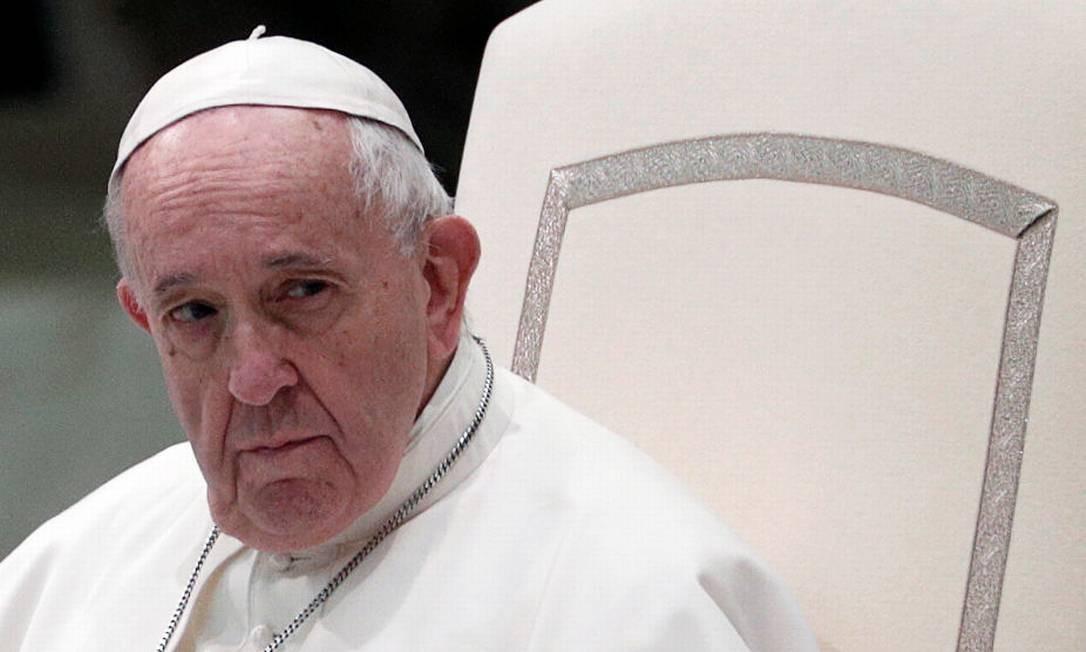 Papa Francisco no Vaticano na última quarta-feira (5) Foto: GUGLIELMO MANGIAPANE / REUTERS