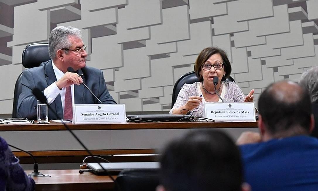 A CPMI é presidida pelo senador Ângelo Coronel (PSD-BA) e relatada pela deputada Lídice da Mata (PSB-BA) Foto: Geraldo Magela/Agência Senado
