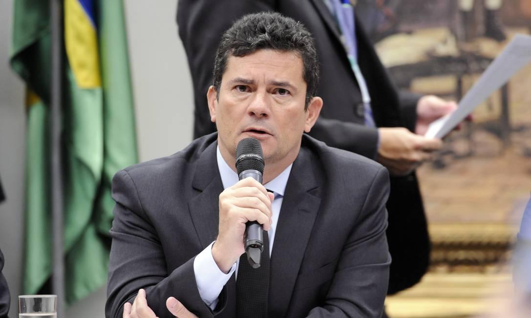 O ministro da Justiça, Sergio Moro, em audiência pública na comissão especial que discute o tema Foto: Gilmar Felix / Câmara dos Deputados