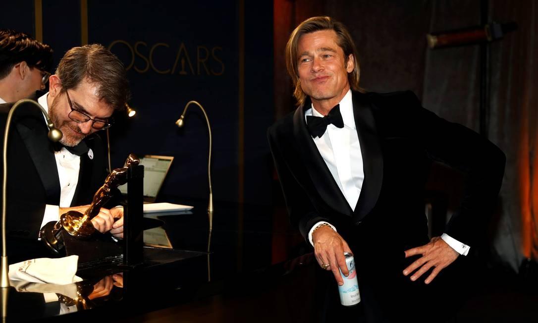 Brad Pitt, vencedor do OLscar de melhor ator coajuvante por 'Era uma vez em Hollywood' Foto: Eric Gaillard / REUTERS