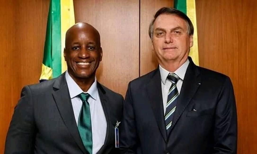 Camargo em encontro com o presidente Jair Bolsonaro Foto: Reprodução/Facebook