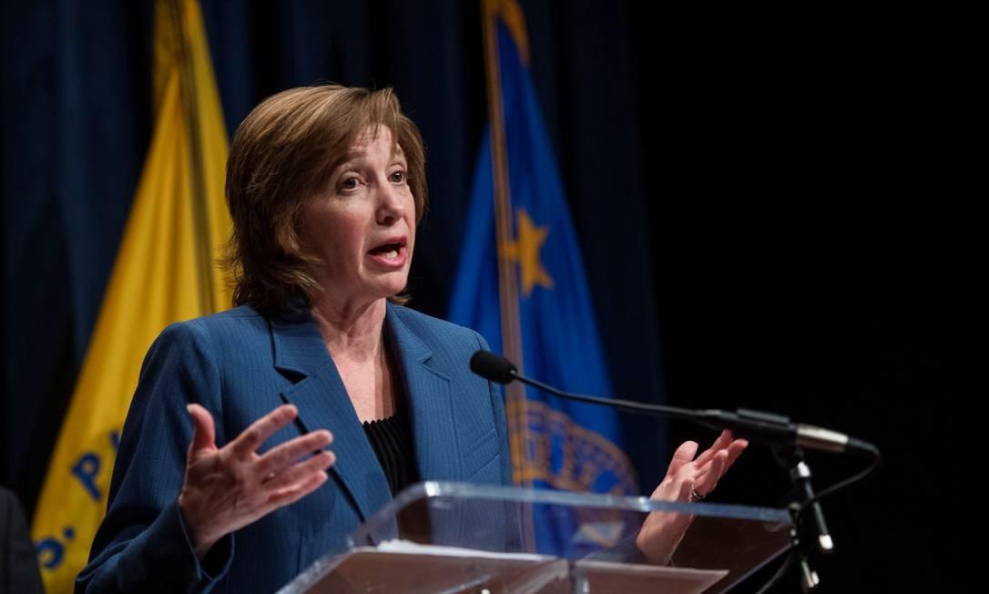 Nancy Messonnier, diretora de doenças respiratórias nos CDC, em discurso sobre medidas de proteção contra o coronavírus em 28 de janeiro de 2020. Foto: AMANDA VOISARD / REUTERS