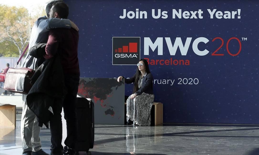 Sem Mobile World Congress este ano. Foto: PAU BARRENA / AFP