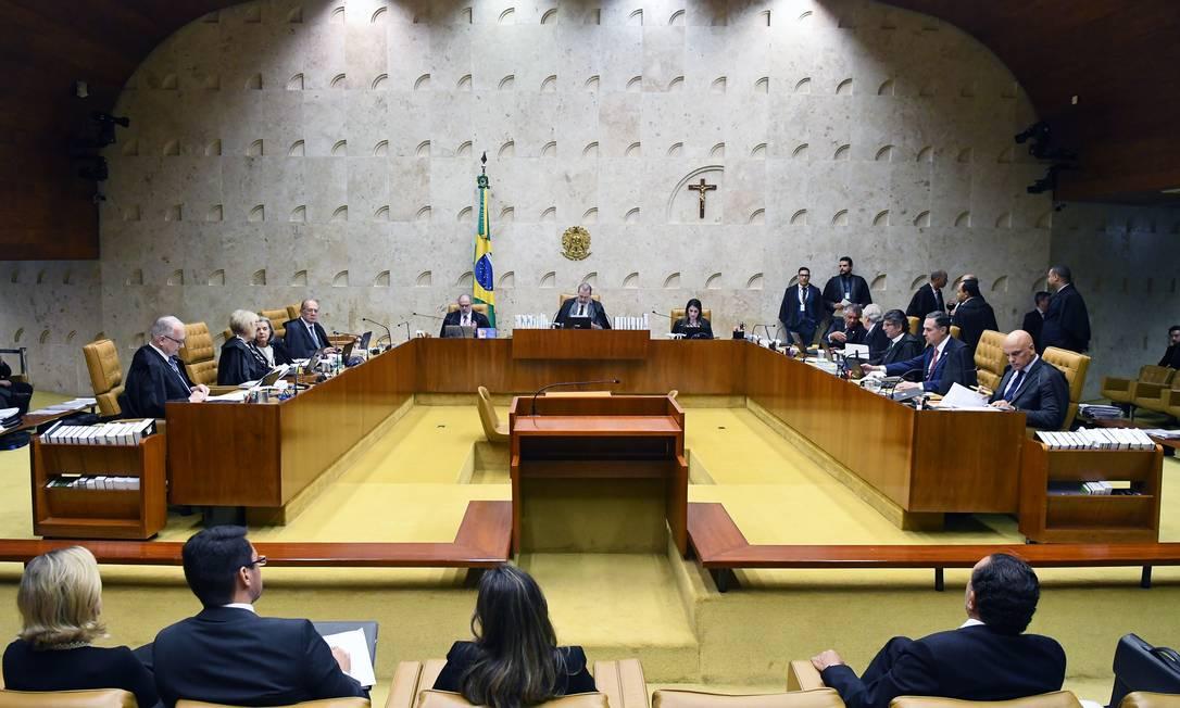 Plenário do Supremo Tribunal Federal (STF) Foto: Carlos Alves Moura / STF