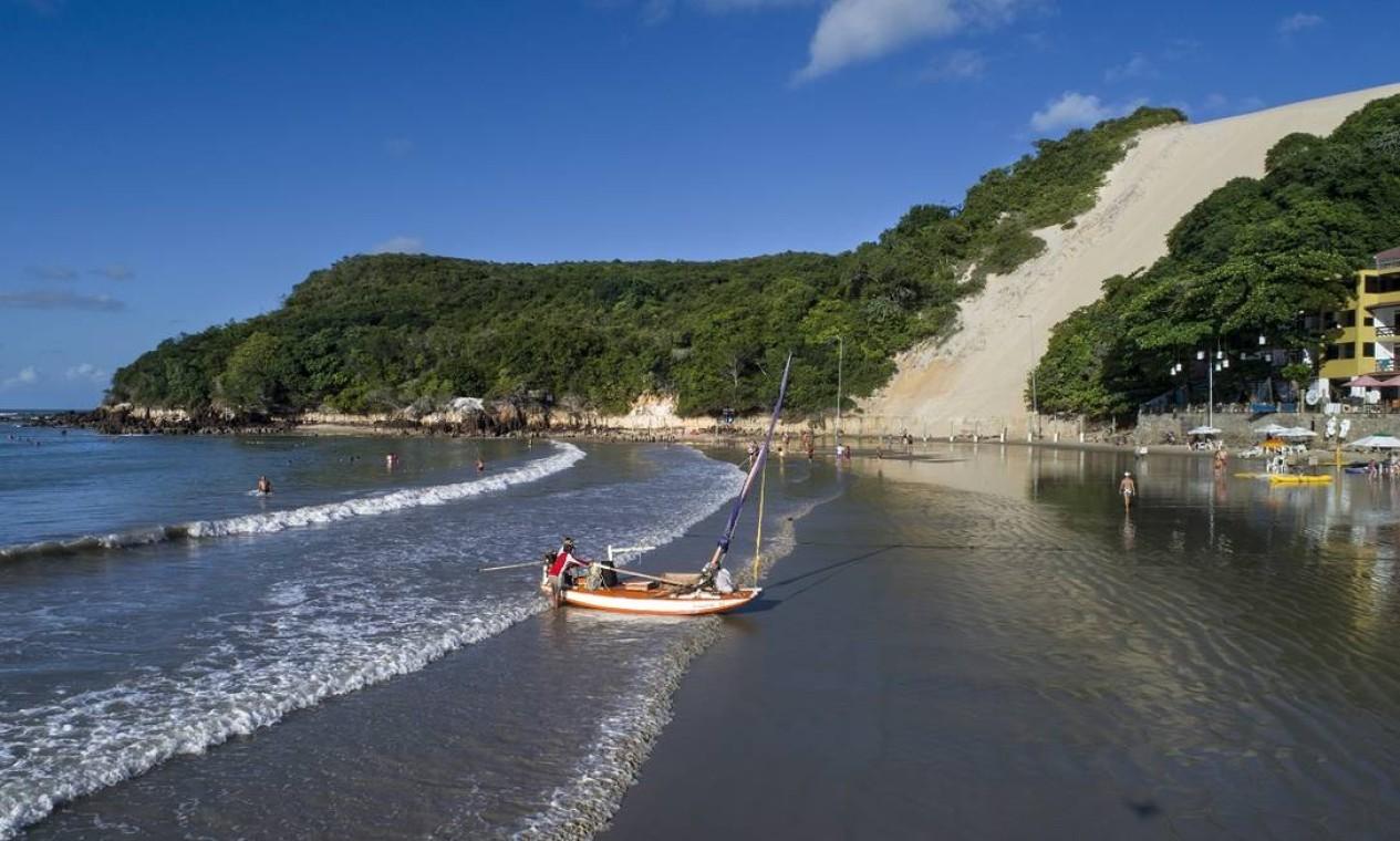 Morro do Careca, na Praia da Ponta Negra, um dos símbolos de Natal, a capital do Rio Grande do Norte Foto: Secretaria de Turismo do Rio Grande do Norte / Divulgação
