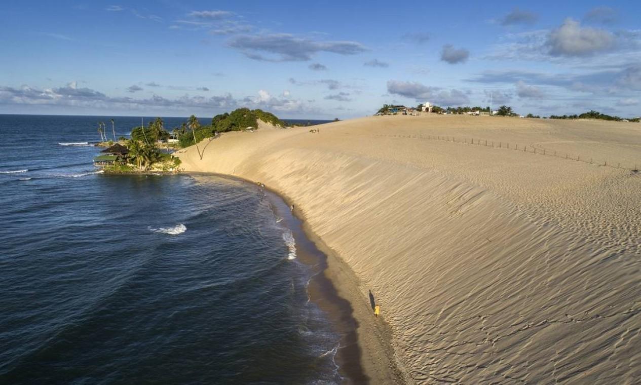 As Dunas de Genipabu, no município potiguar de Extremoz, vizinho à capital Natal Foto: Secretaria de Turismo do Rio Grande do Norte / Divulgação