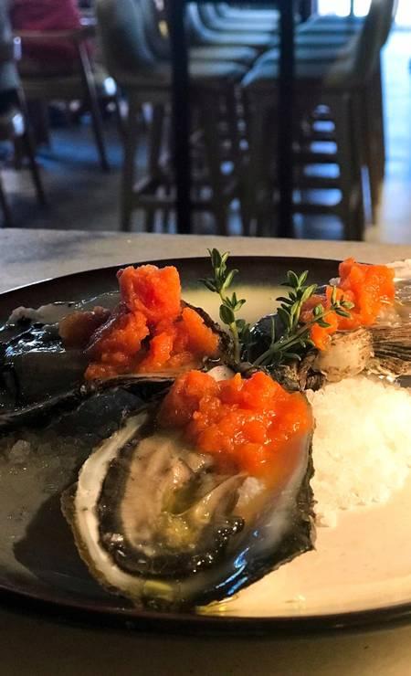 Ostras do italiano Cicchetti, outra boa sugestão de restaurante em Pipa Foto: Secretaria de Turismo do Rio Grande do Norte / Divulgação